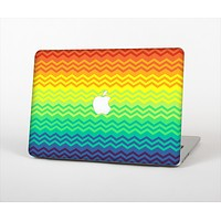 The Rainbow Thin Lined Chevron Pattern Skin Set for the Apple MacBook Air 13""