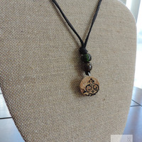 Cork jewelry Real cork Adjustable necklace Fun gift ideas (N015)