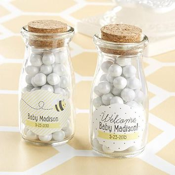 """Kate'S """"Sweet As Can Bee"""" Personalized Milk Jar (Set Of 12)"""