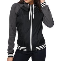 Zine Davina Black Athletic Windbreaker Jacket