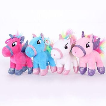 14cm Soft Stuffed Animal Baby Dolls Lovely Cartoon Unicorn Plush toys for Kids Toys Children Baby Birthday Christmas Gift
