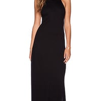 Lanston Apron Maxi Dress in Black