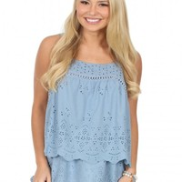 Sunflower Fields Tunic in Blue | Monday Dress Boutique