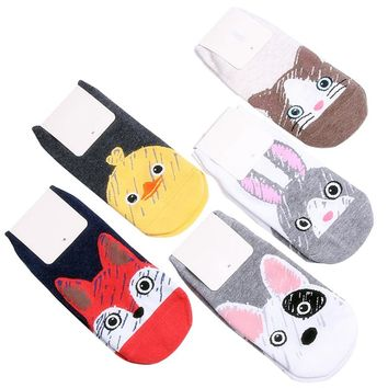 Lovely Cartoon Animals Rabbit Duck Boat Socks Funny Crazy Cool Novelty Cute Fun Funky Colorful