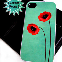 iPhone 5 Case Red Poppies Ships from USA