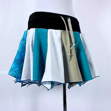 Patchwork skirt, Upcycled Clothing, Hippie Skirt, Hoop Skirt, Boho Chic, Hippie Clothes, Bohemian Clothing, Short Skirt, Dance Skirt, Pixie