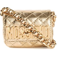 Moschino Mini Logo Crossbody Bag - Feathers - Farfetch.com