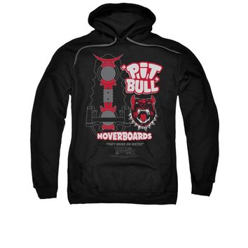 Back To The Future Pitbull Hoverboard Licensed Adult Pullover Hoodie
