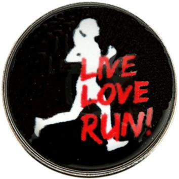 Snap Charm Runners Live Love Run 20mm