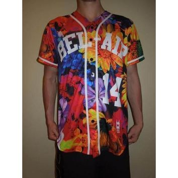 Floral Bel Air Academy Baseball Basketball Jersey 14 Will Smith