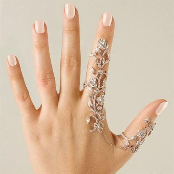 PEAPYV2 Fashion Woman Jewelry Multiple Finger Stack Knuckle Band Crystal Rings