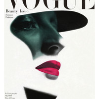 Vogue Cover - May 1945 Premium Giclee Print by Erwin Blumenfeld at Art.com