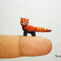 Miniature Red Panda - Micro Crochet Shining-Cat - Made To Order