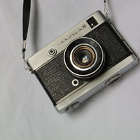 Rare Vintage CHAJKA 2 half-frame soviet camera by Lomo with Industar 69 lens - made in USSR in 70-th, CCCP