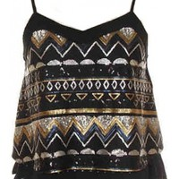 Tribal Sequin Top