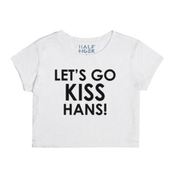 Let's Go Kiss Hans!-Female Snow T-Shirt