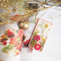 Christmas Edition - The dream flowers pressed flower bumper phone case (押し花電話ケース)