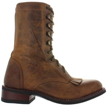 Laredo Western Roper Paddock - Brown Leather Lace Kilty Boot