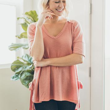 Forever Comfortable Tunic in Coral
