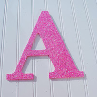 Decorative Pink Glitter Wall Letters, Girls Bedroom Decor, Home Decor, Wedding Reception Decorations