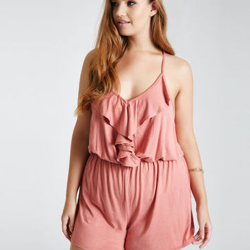 Plus Size Ruffle Front Romper | Wet Seal Plus