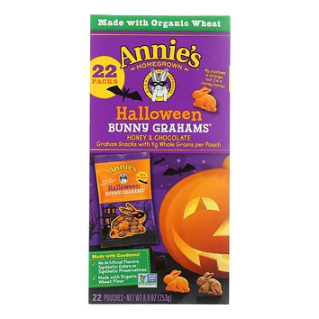 Annie's Homegrown Bunny Grahams Honey And Chocolate - Case Of 6 - 8.9 Oz