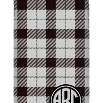 Plaid Monogram iPhone 6S Plus Extra Protective Bumper Case