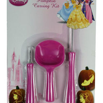 Officially Licensed 3-piece Pumpkin Carving Set - 7 Disney Princess Patterns