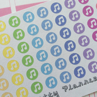 Music Dots Life Planner Stickers