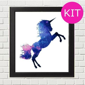 Unicorn Cross Stitch Kit, Fantasy Cross Stitch