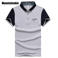 Mountainskin 2017 Fashion Brand Men's Polos 95% Cotton Summer Men Polo Shirts Stand Collar Tops Male Polos Patchwork SA245
