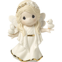 "Precious Moments ""In His Perfect Peace And Love"", Seventh in Annual Angel Series, Bisque Porcelain Figurine"