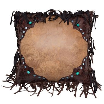 Western Turquoise Bead Pillow