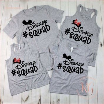 Disney Squad Woman's Tank Top TShirt Matching Family Shirt