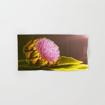 artichokes flower Hand & Bath Towel by Tanja Riedel