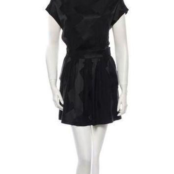 ONETOW balenciaga silk dress 4
