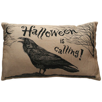Halloween is Calling Throw Pillow