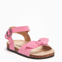Sueded Bow-Tie Sandals for Baby   Old Navy