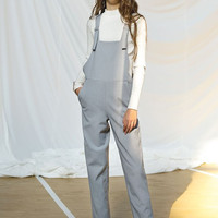 Gray Sleeveless Fit Overall