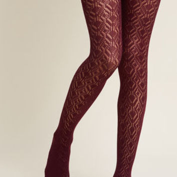 Statement Maven Tights in Plum