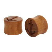 Urban Star Anchor Teak Solid Plug 2 Pack