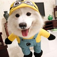 Funny Dog Clothes Halloween Pet Costume Suit Puppy Coat Jacket Despicable Clothes Cotton Hoodie Outfit For Small Dogs 39S1