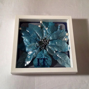 Let It Snow set of shadow boxes wall decor, shadow box frame, winter decoration