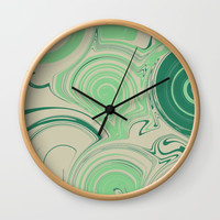 Spiraling Green Wall Clock by sm0w