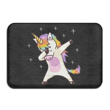 Autumn Fall welcome door mat doormat Soft Non-slip Unicorn Cute Dabbing Funny Dab Dance Gift Bath Mat Coral Rug  Entrance Rug Floor Mats For Front Outside AT_76_7