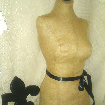 Burlap Dress form jewelry making designs store display home decor