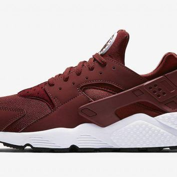 Nike Air Huarache Run Team Red White Black 318429-606 Size 8-13 Maroon Burgundy