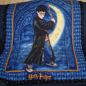 Handmade Harry Potter Quilt Blanket or Throw by serendipityhues