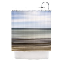 "Iris Lehnhardt ""Abstract Beach"" Gray Brown Shower Curtain"