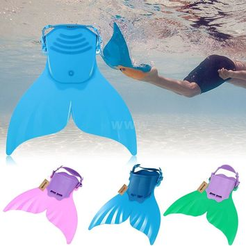 Adjustable Kid Child Swimming Diving Mermaid Monofin Training Flippers Swim Fin Christmas gifts for kids